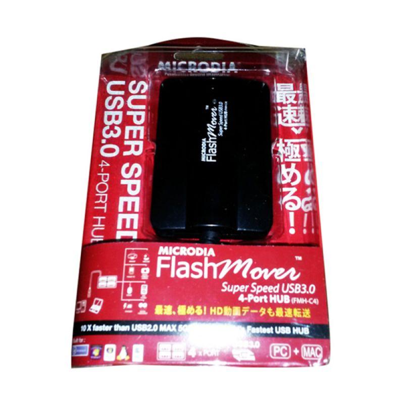 Microdia Hitam USB Hub [USB 3.0/4 Port]