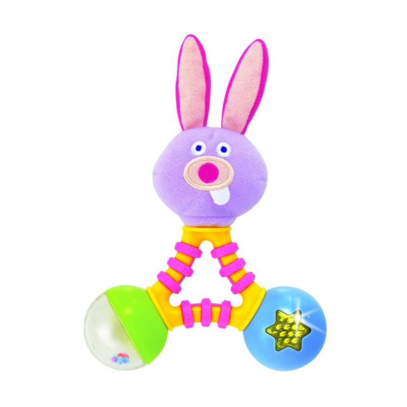 Early Star Goofy Face Musical Rattle - Rabbit SE5330
