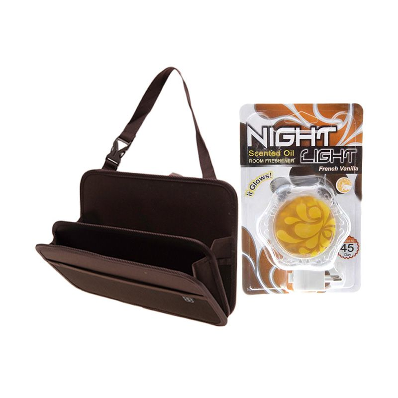EASI Car Seat Back Storage Tray + Carall Night Light French Vanilla D10311A