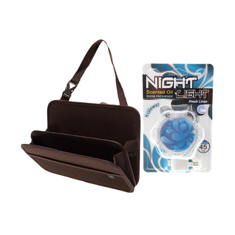 EASI Car Seat Back Storage Tray + Carall Night Light Fresh Linen D10311A