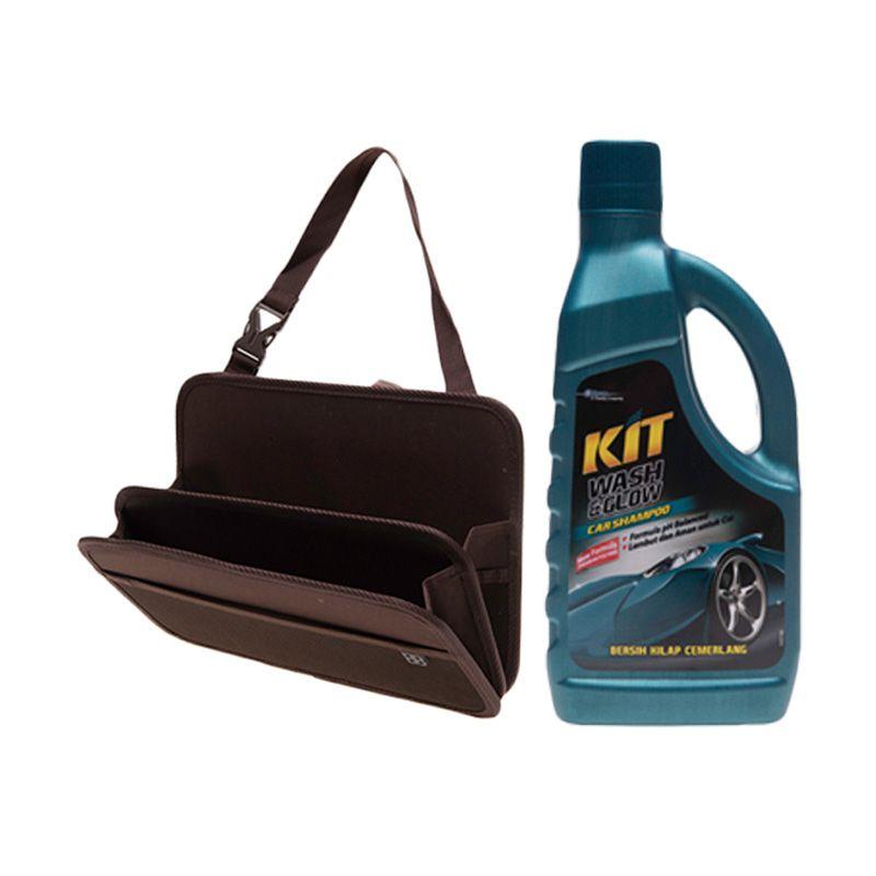 EASI Car Seat Back Storage Tray + KIT Wash & Glow Bottle [1000 ml]