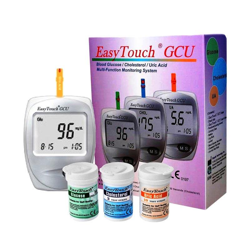 harga Easy Touch GCU (Gula Darah, Asam Urat, Kolestrol) Alat Monitor Kesehatan Blibli.com