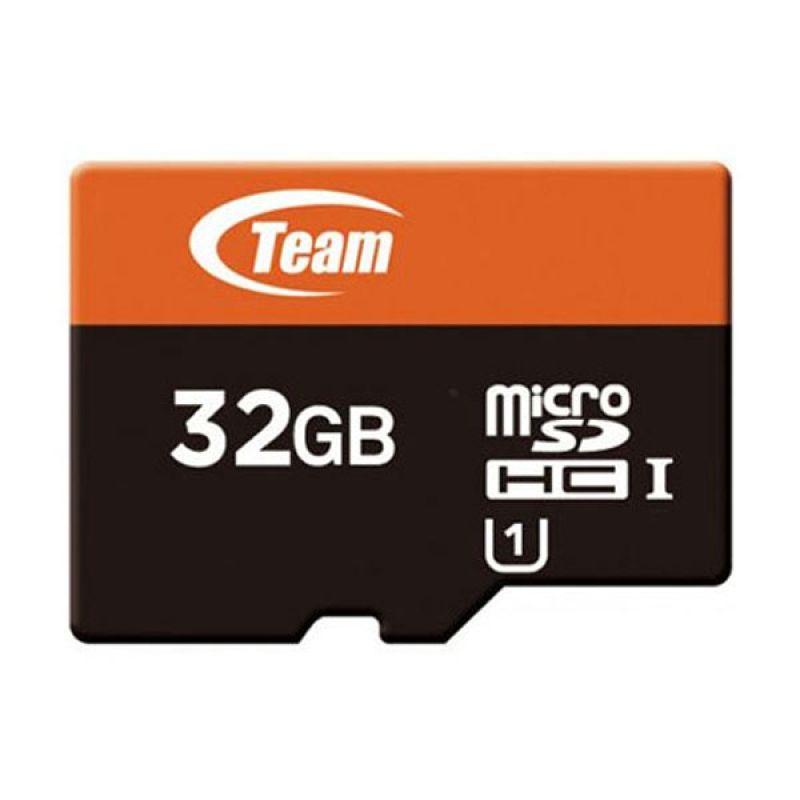 Team MicroSDHC UHS 1 Hitam Memory Card [32 GB]