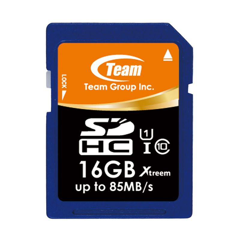 Team Xtreem UHS-1 SDHC Biru Memory Card [16 GB ]