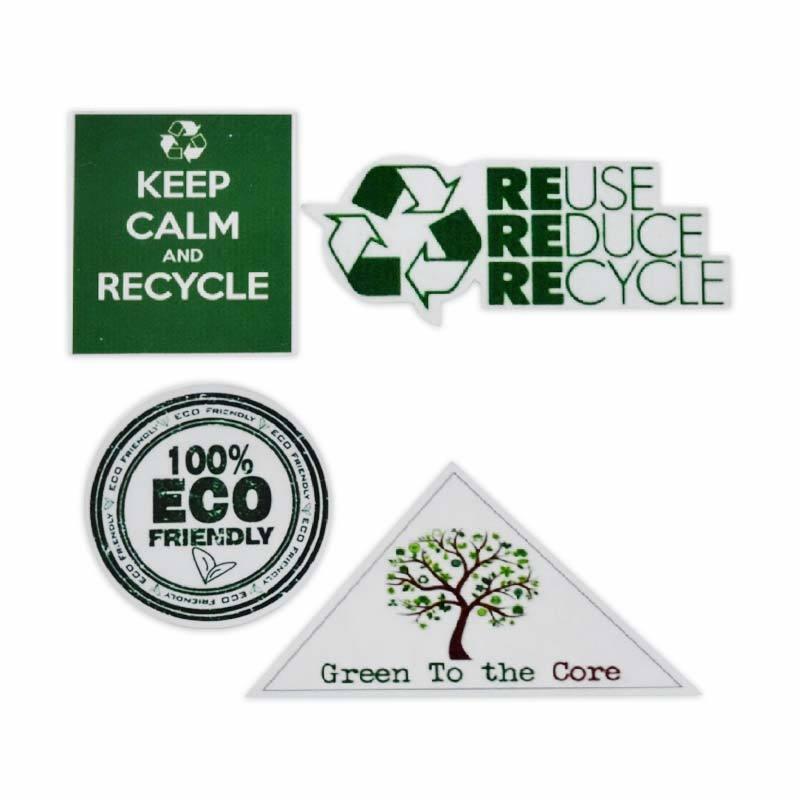Ecolife 4 Pcs Wooden Magnet Eco Friendly