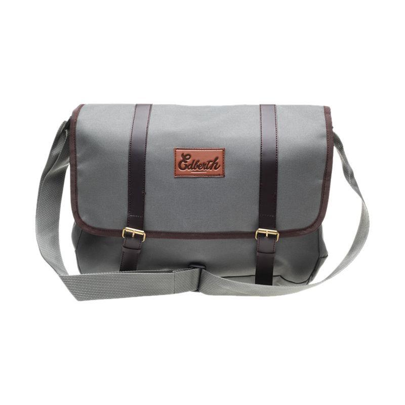 Edberth Sling Double Strap TS-02 Sling Bag Gray Tas Selempang Pria