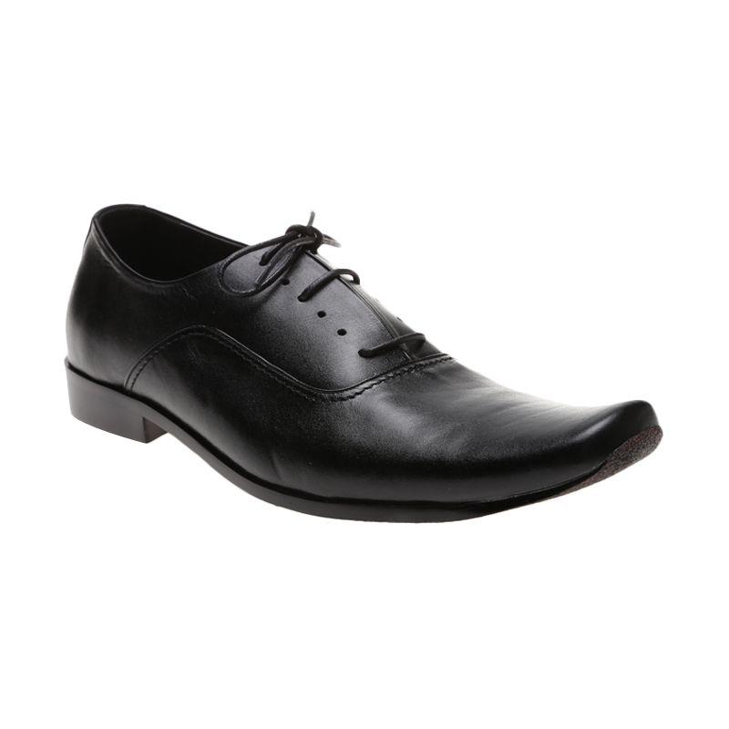 Edberth Leather Shoes Oxford FM-61 H Hitam Sepatu Pria