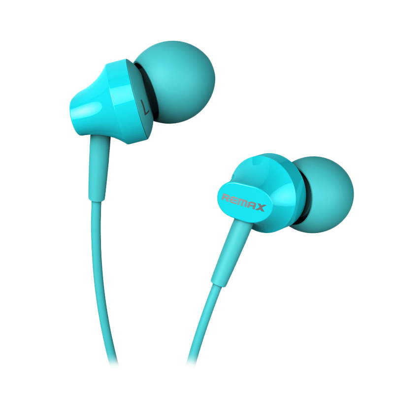 Jual Remax RM501 Series For Android IOS Blue Earphones