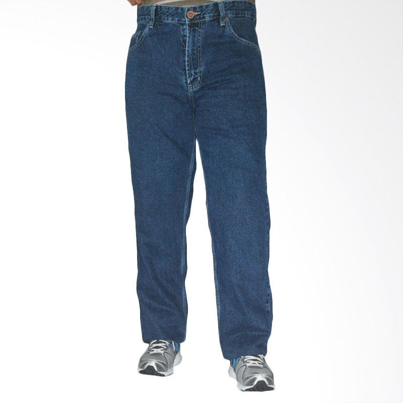 2ndRED Big size Basic 114191 Indigo Light Blue Celana Panjang Jeans Pria