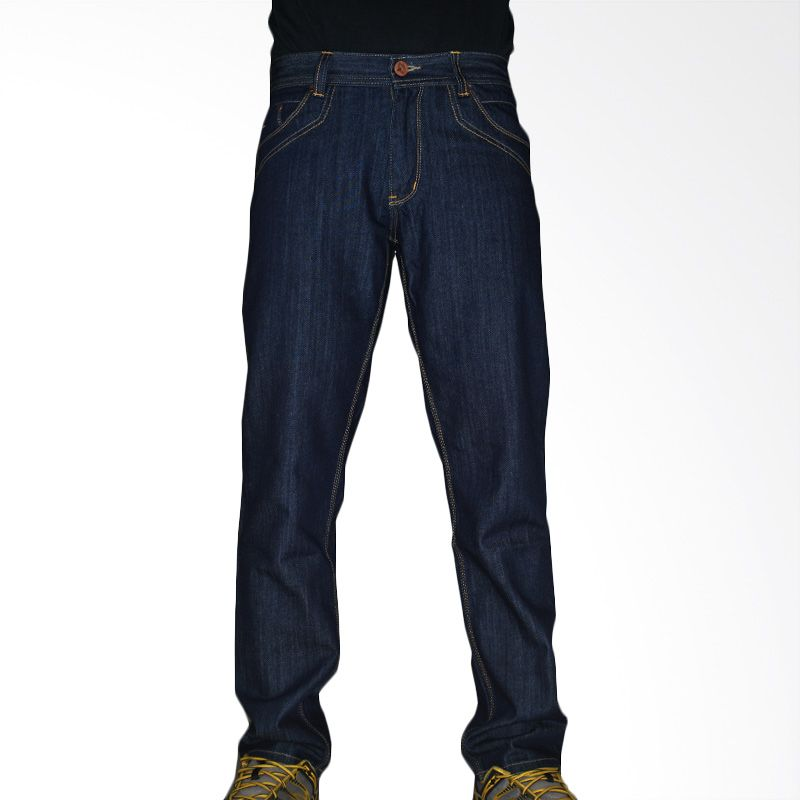 2ndRED Big Pocket Raw121213 Navy Celana Panjang Jeans Pria