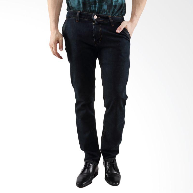 2ndRED 123297 Straight Dark Grey Celana Jeans Pria