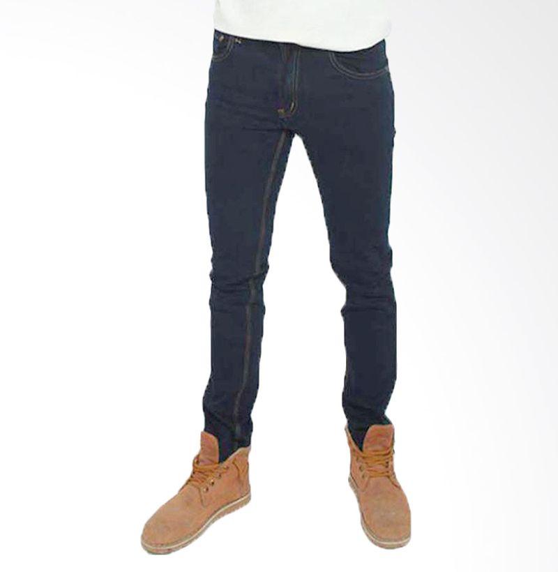 2ndRED 133205 Slim Fit Blue Black Celana Jeans Pria