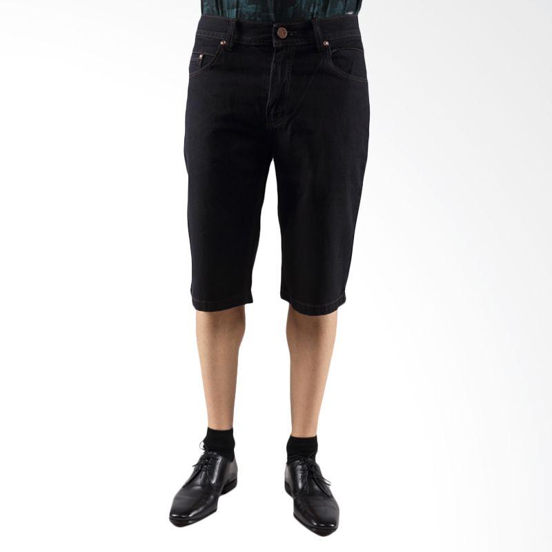 2ndRED 152387 Jeans Black Celana Pendek Pria