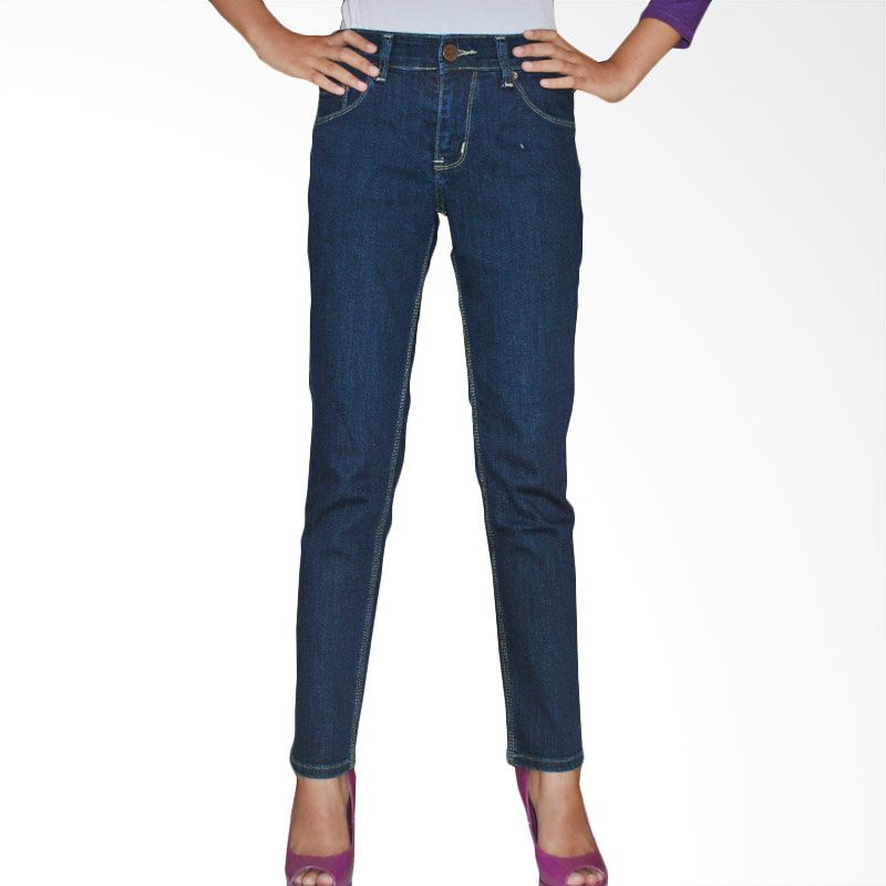 2ndRED 233278 Slim Fit Ladies Navy Raw Jeans Celana Panjang