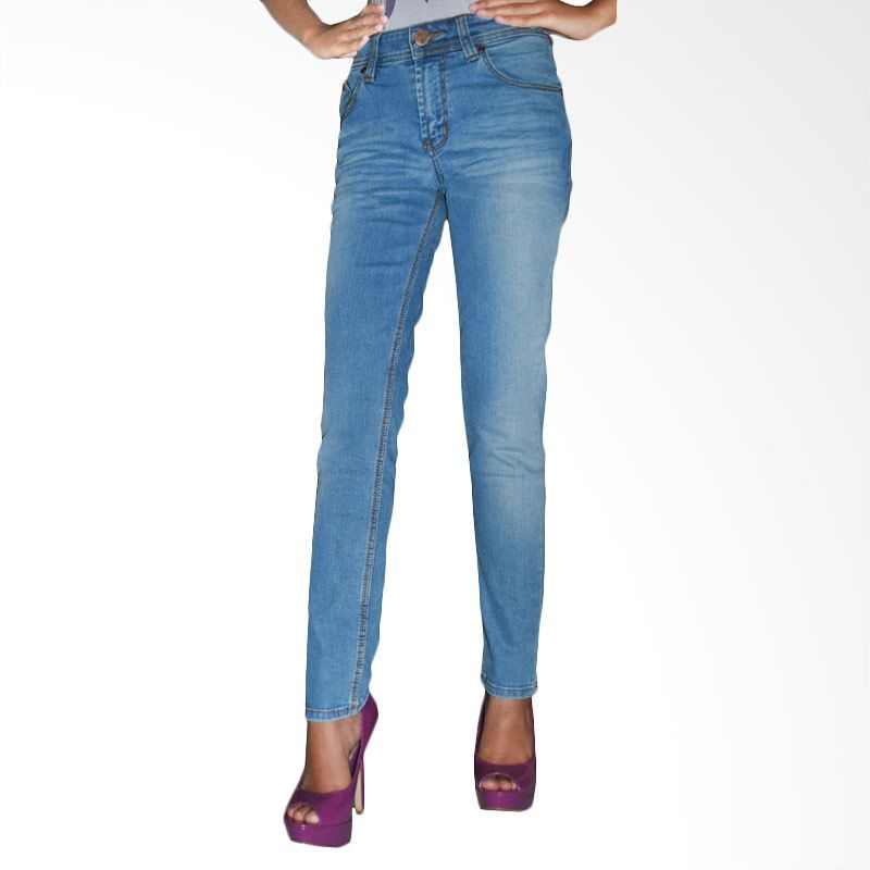 2ndRED 233289 Slim Fit Ladies Blue Blitz Wisker Jeans Celana Panjang