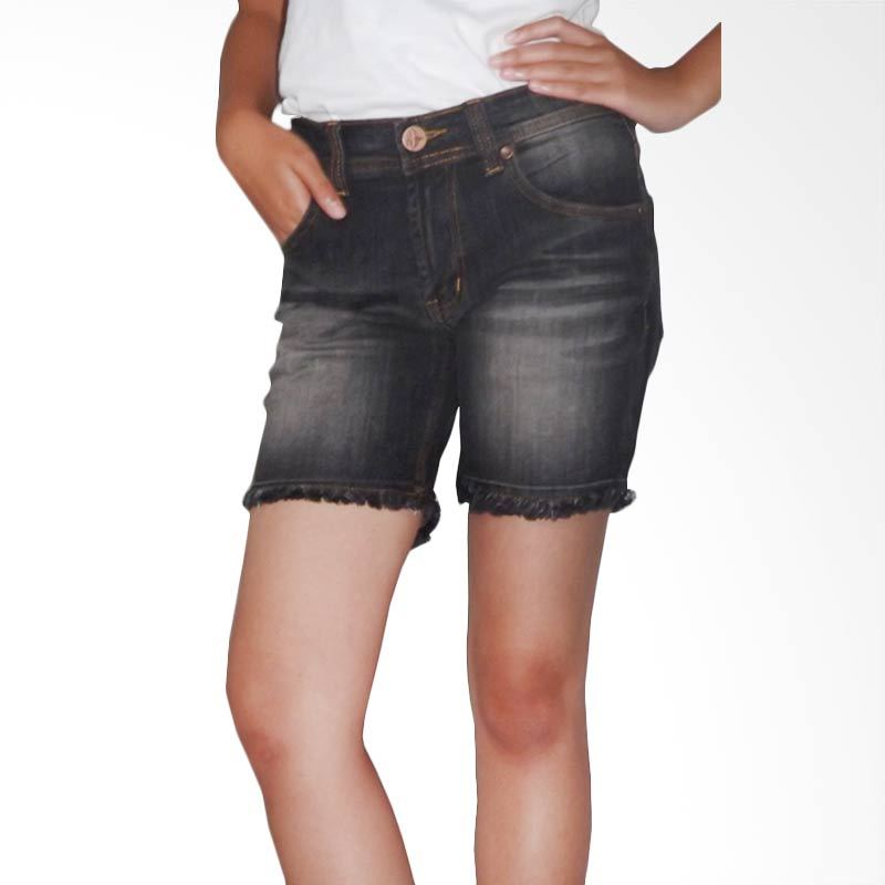 2ndRED Wisker Spray Hotpants 263102 Black Grey Celana Pendek Wanita