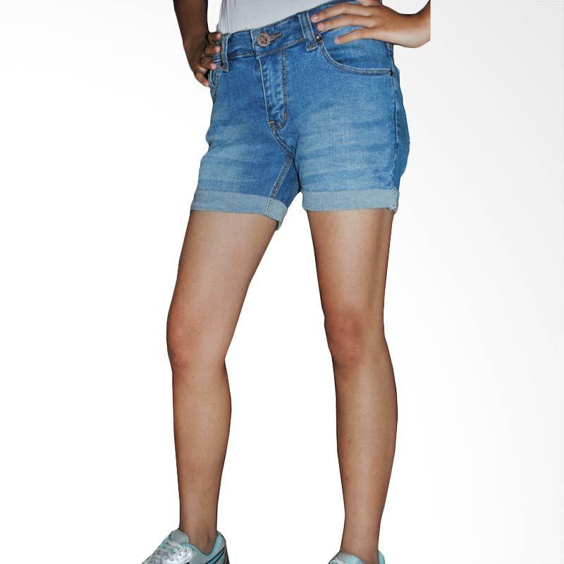 2ndRED Wiskers Hotpants 263206 Blue Celana Pendek Wanita