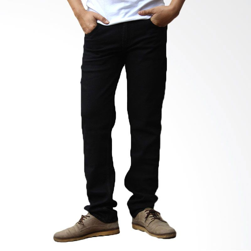 2ndRED Slim Fit Straight 136306 Black CTP Jeans Pria