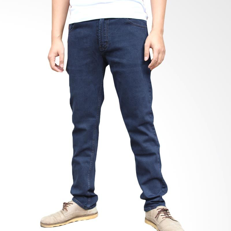 2ndRED Slim Fit Straight 136310 Navy Celana Jeans Pria