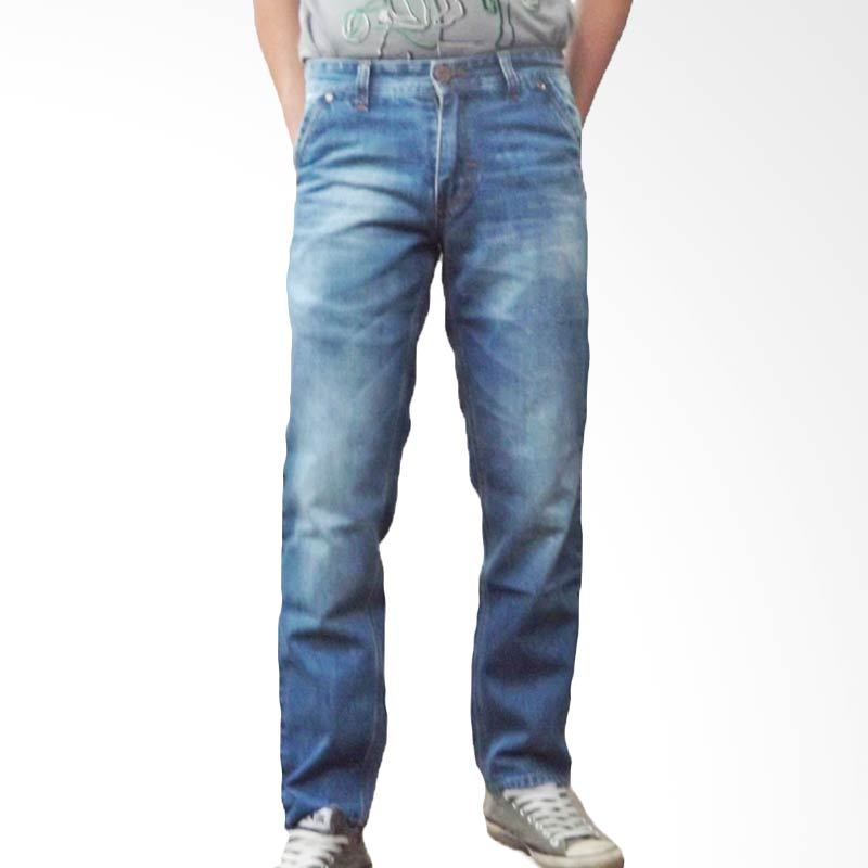 2ndRED 121228 Wifing Spray Blue Celana Panjang Jeans Pria