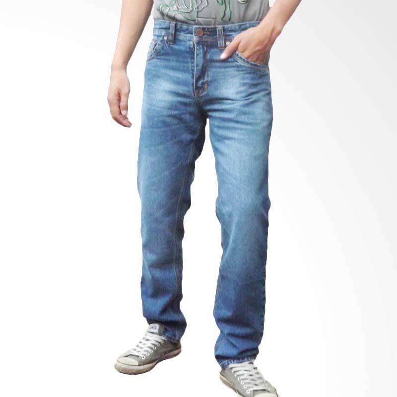 2ndRED 124229 Wisker Spray Blue Celana Panjang Jeans Pria