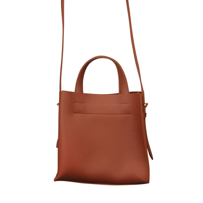 Eline Rose Ruby Tote with Straps Caramel