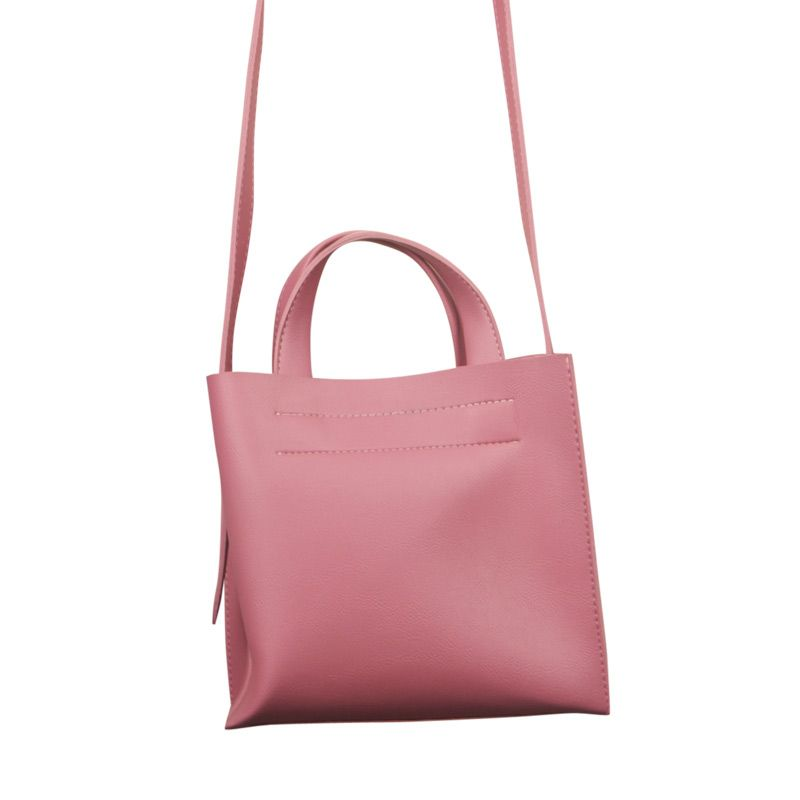 Eline Rose Ruby Tote with Straps Pink
