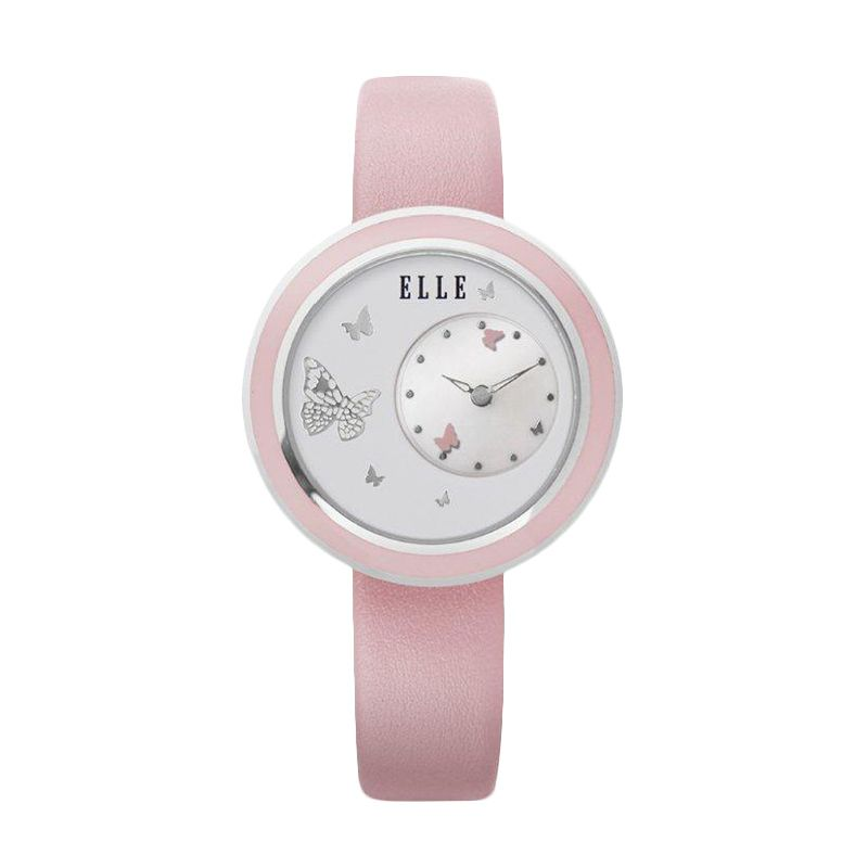 Elle Time EL20278S03C Leather strap Pink Jam Tangan Wanita