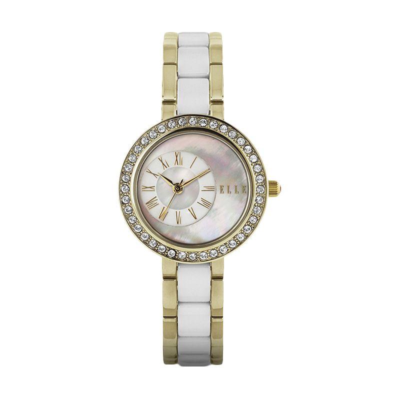 Elle Time EL20269B08N Ceramic-Stainless Gold Jam Tangan Wanita