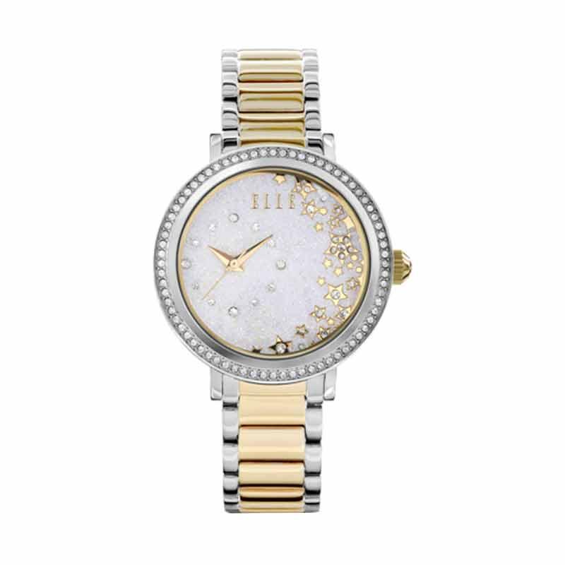 Elle Time EL20351B02N Jam Tangan Wanita - Silver Gold