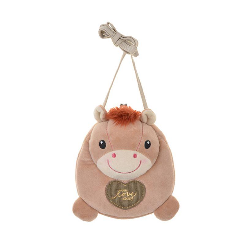 Emily Labels Kiss Baby Horse 08 Light Brown Sling Bag Tas Selempang
