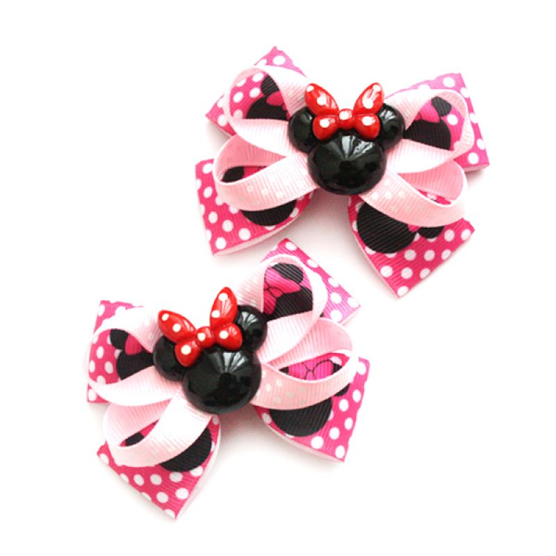 Emily Labels Minnie Mouse Pink Jepit Rambut