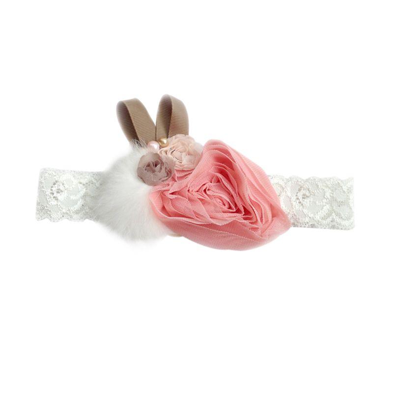 Emily & Chloe Isabella Bunny Pink Putih Bandana