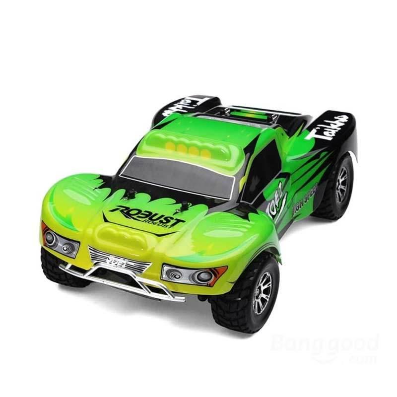 WL Toys Vortex Short Course A 969 Green Mainan Remote Control