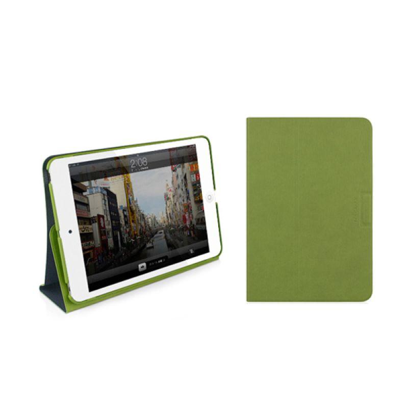 Macally iPad Mini Folio Case With Rotatable Stand Green Stand Mini