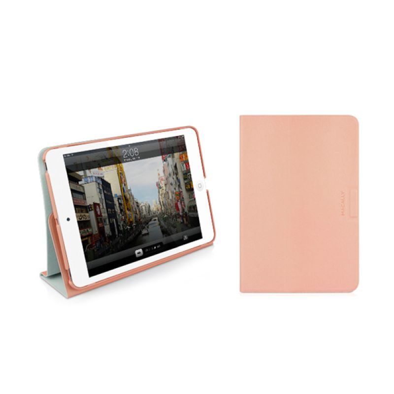 Macally iPad Mini Folio Case With Rotatable Stand Red Stand Mini