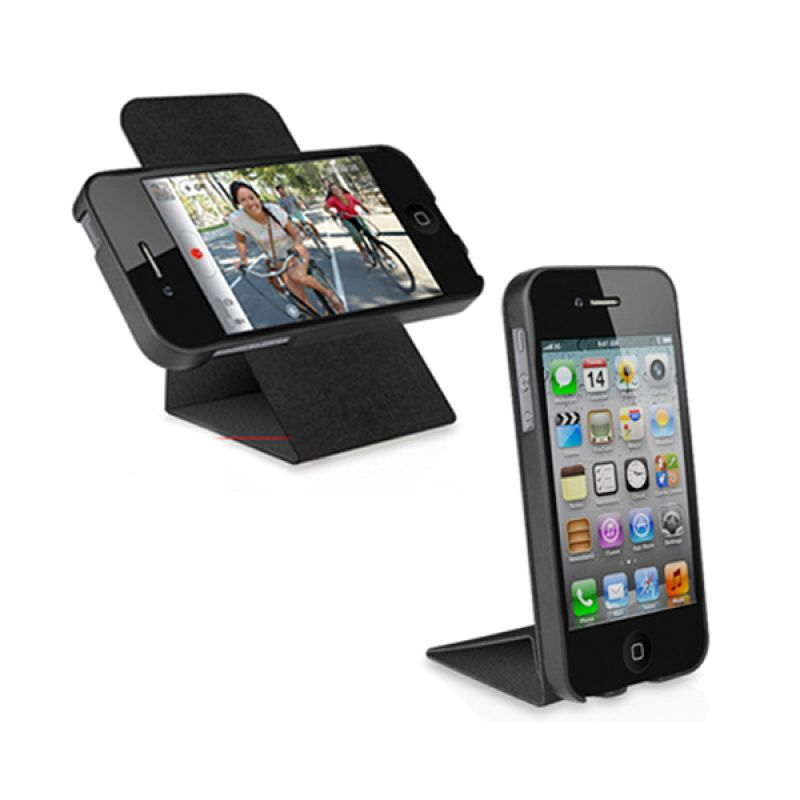 Macally iPhone 5 Rotating Folio Stand Case Black SSTAND5