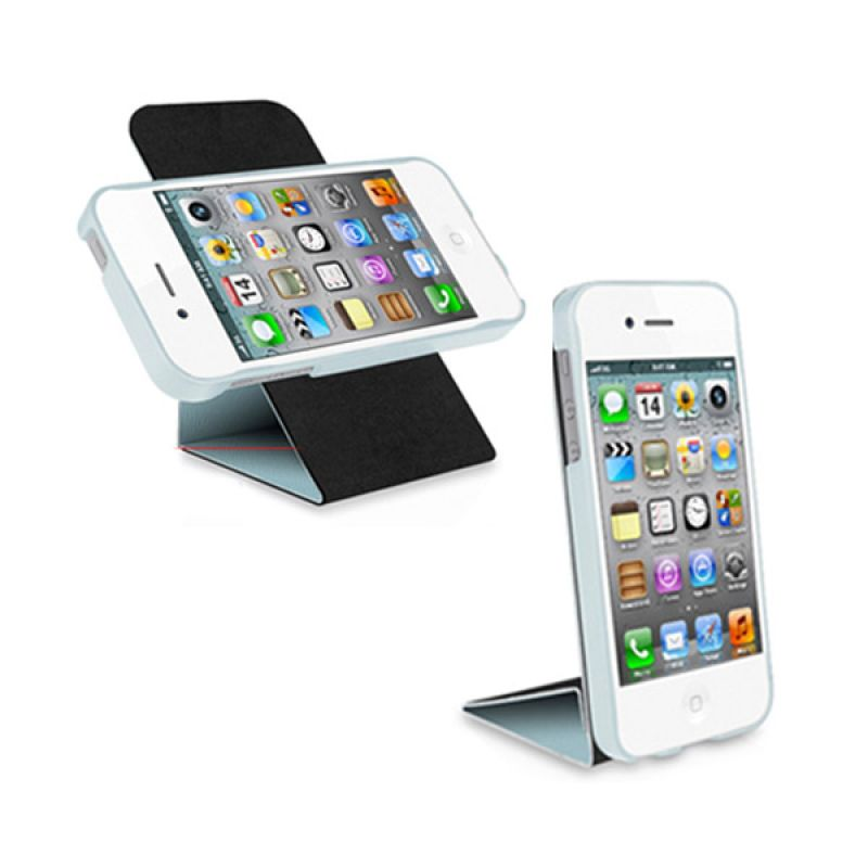 Macally iPhone 5 Rotating Folio Stand Case Blue SSTAND5BL