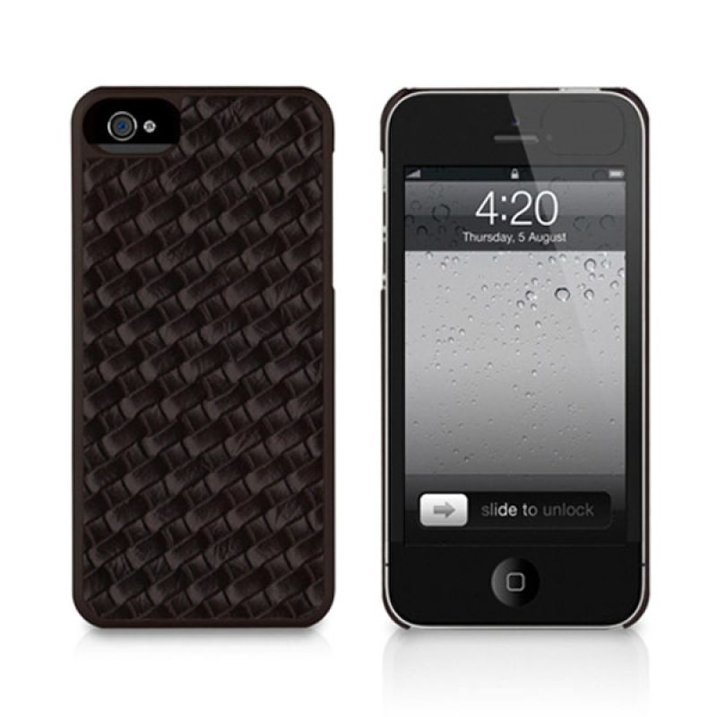 Macally iPhone 5 Weave Case Brown WEAVE5BR
