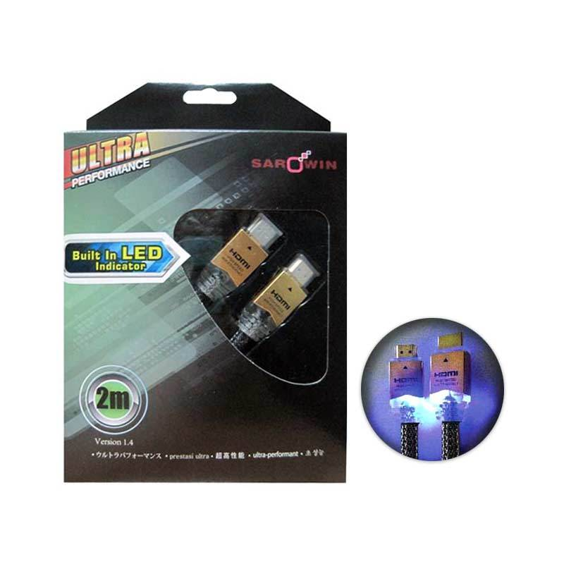 Sarowin standart A to A HDMI Cable with Blue LED 2 Meter
