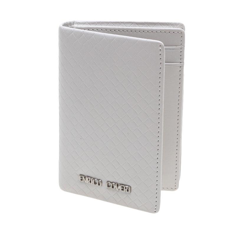 Enrico Coveri Grigilia Card Holder Leather White Dompet Pria