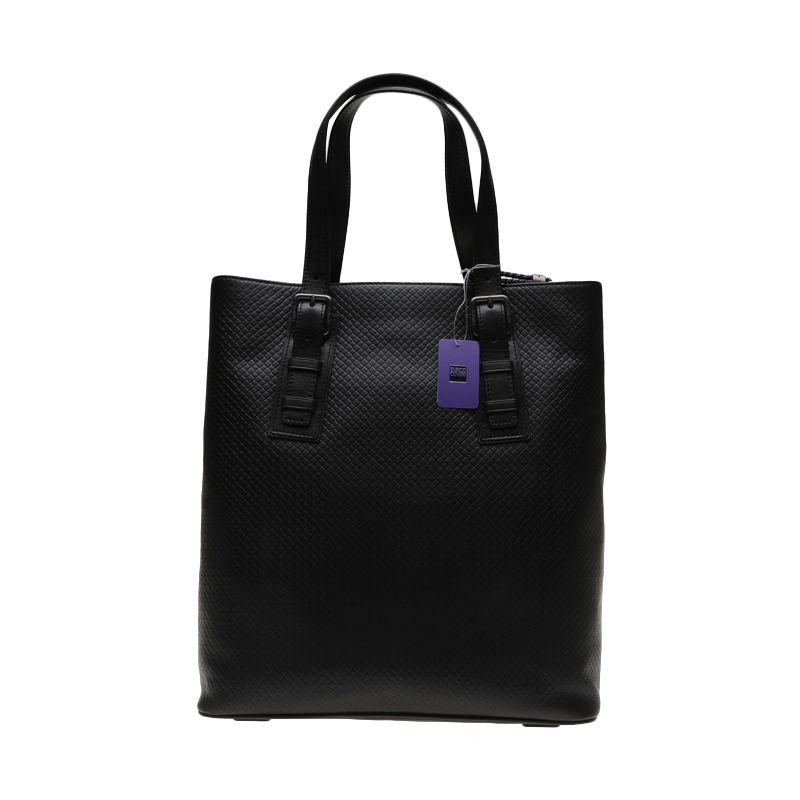 Enrico Grigilia Leather Black Tote Bag Tas Tangan
