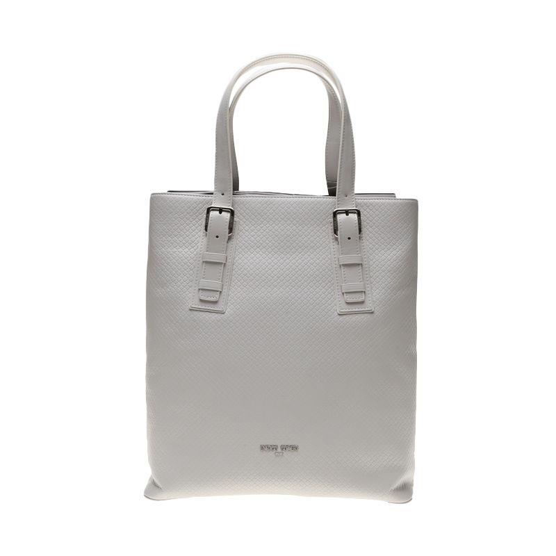 Enrico Grigilia Leather White Tote Bag Tas Tangan