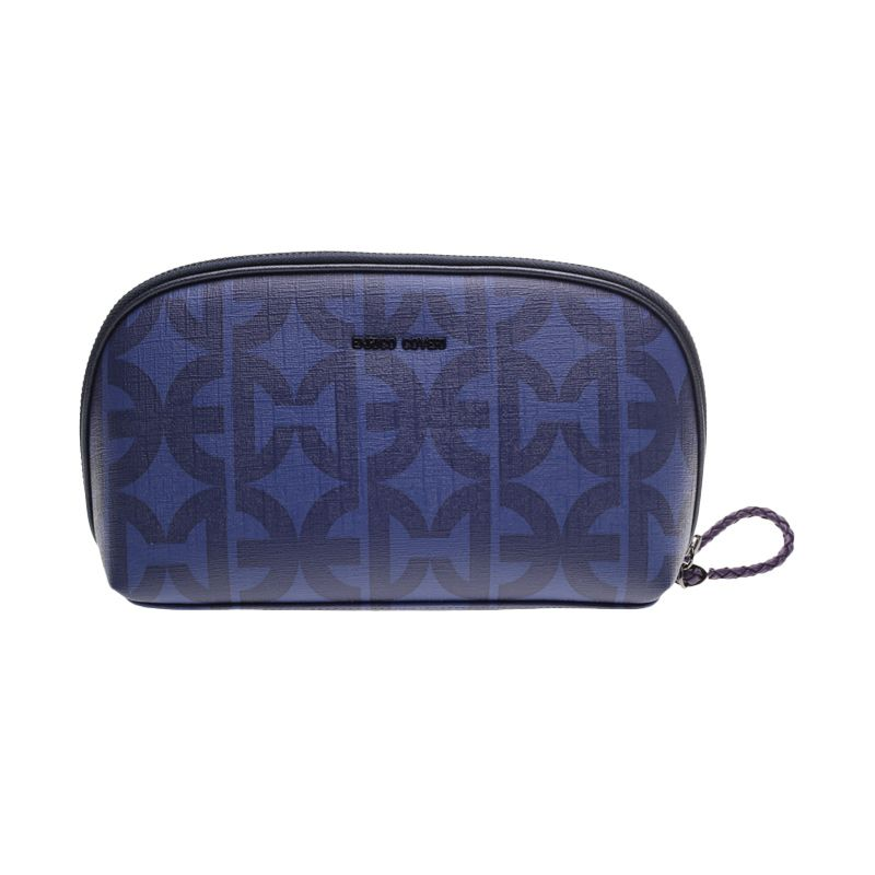 Enrico Viaggia Leather Blue Clutch Bag