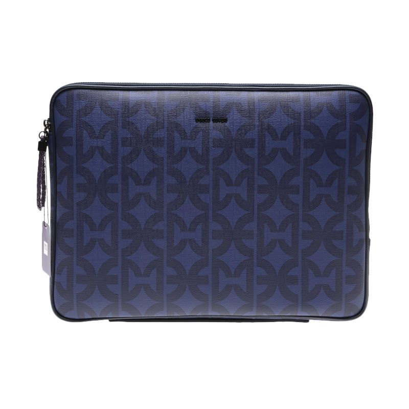 Enrico Viaggia Leather Blue Tas Laptop