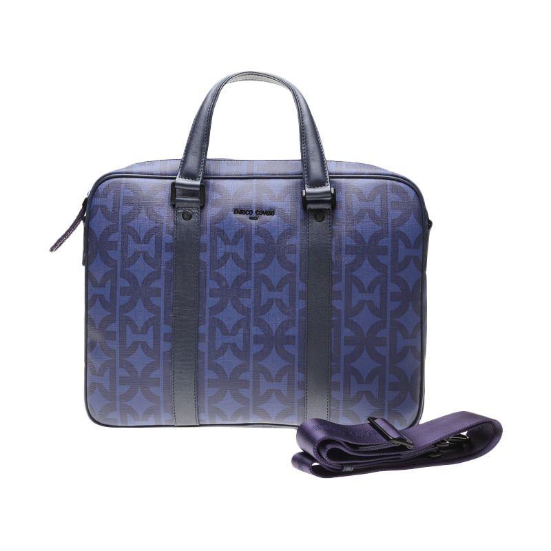 Enrico Viaggia Leather Blue Sling Bag Tas Selempang
