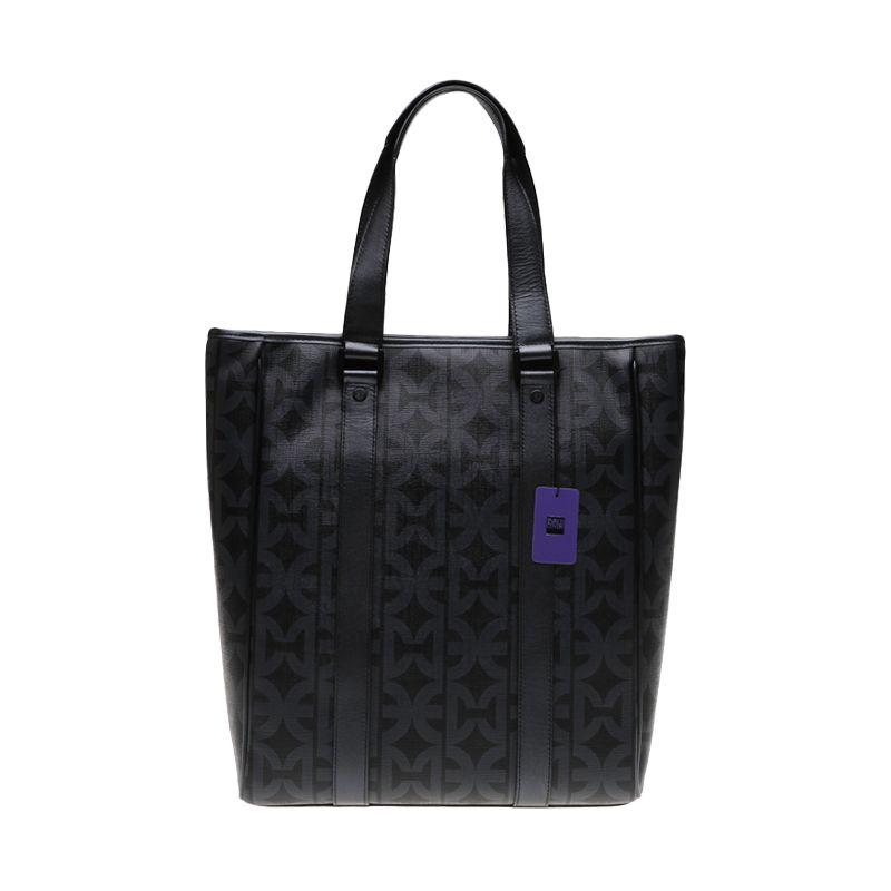 Enrico Viaggia Leather Black Tote Bag Tas Tangan