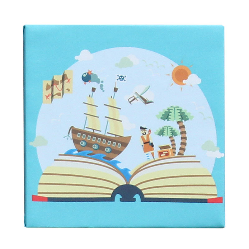 ENVIE Pirates Kid Lukisan Kanvas [30 x 30 cm]