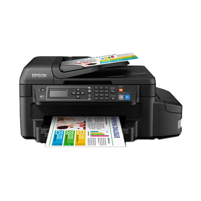 Epson L655 Hitam Printer [Multifungsi/ Duplex/ Wifi/ ADF]
