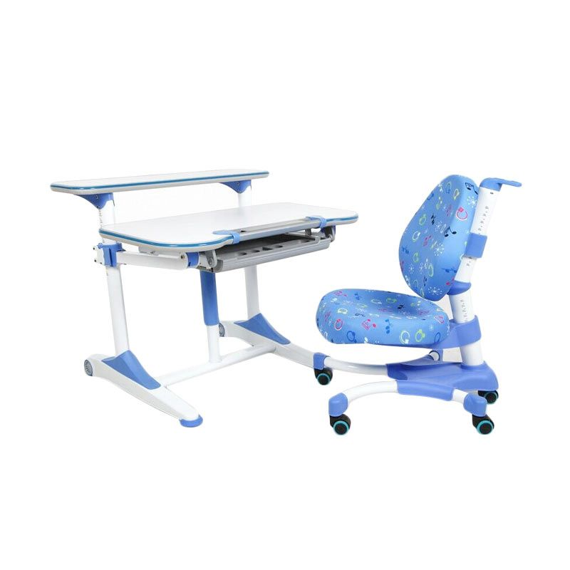 Hummingbird Ergonomic School Desk Blue Meja Belajar Anak